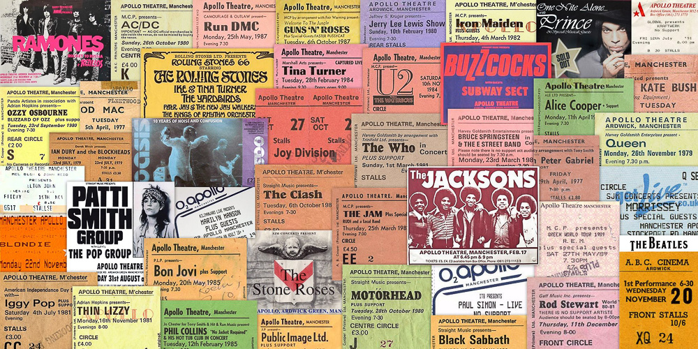 Tickets from iconic Apollo shows